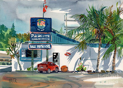 Painting - Padi Dive Shop by Donald Maier