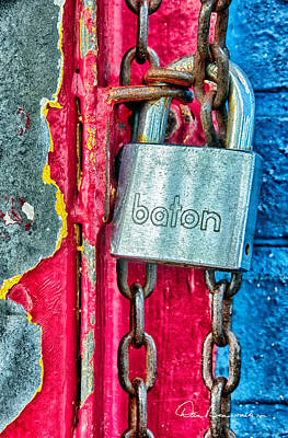 Dan Beauvais Royalty-Free and Rights-Managed Images - Padlock 0438 by Dan Beauvais
