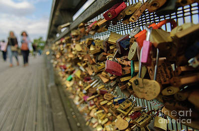 Photograph - Padlock Bridge by Paul Warburton