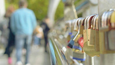 Photograph - Padlock On A Bridge by Jacek Wojnarowski
