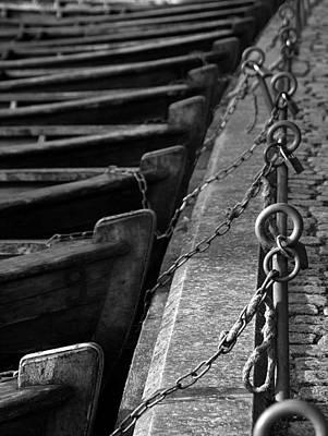 Padlocked Boats Art Print by Robert Lacy