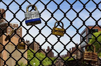 Harlem Ny Photograph - Padlocks On Chainlink Fence East Harlem Ny by Robert Ullmann