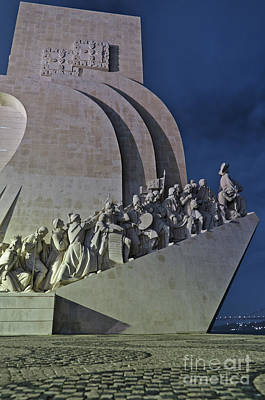 Photograph - Padrao Dos Descobrimentos At Night In Lisbon by Angelo DeVal