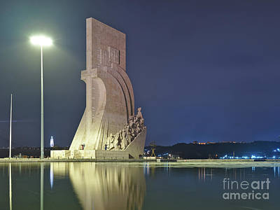 Photograph - Padrao Dos Descobrimentos View At Night In Lisbon by Angelo DeVal