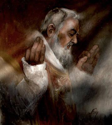 Padre Pio At Nones Original
