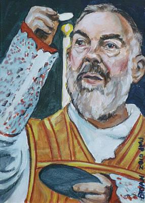 Padre Pio Art Print by Bryan Bustard