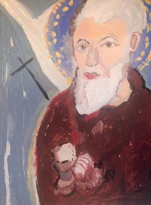Painting - Padre Pio by Judith Desrosiers