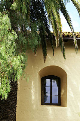 Photograph - Padres Window Santa Ynez Mission by Gary Brandes