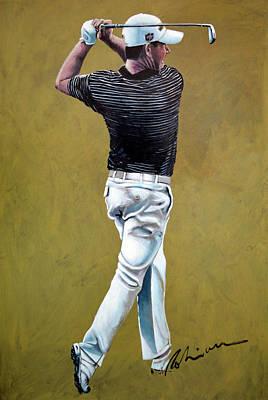 Painting - Padriag Harrington 2013 by Mark Robinson