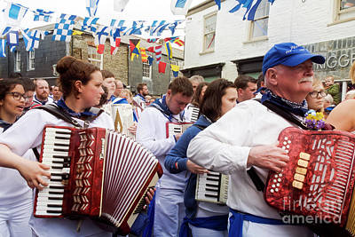 Photograph - Padstow Blue Oss Musicians by Terri Waters