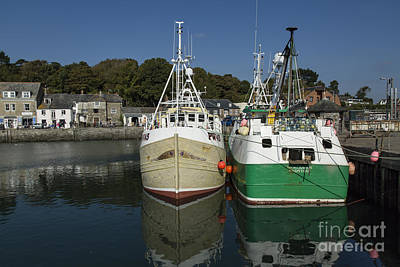 Photograph - Padstow Fishing Boats by Brian Roscorla