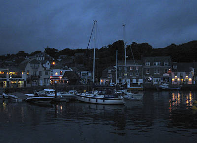 Photograph - Padstow Harbor At Night by Kurt Van Wagner