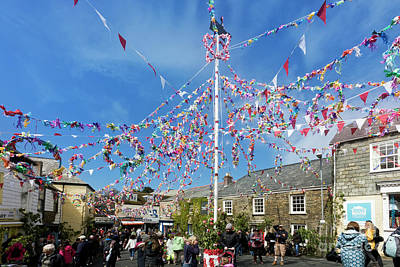Photograph - Padstow Maypole by Terri Waters