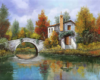 Painting Rights Managed Images - Paesaggio Pastellato Royalty-Free Image by Guido Borelli