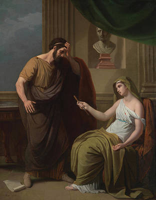 Disbelief Painting - Paetus And Arrira by Benjamin West