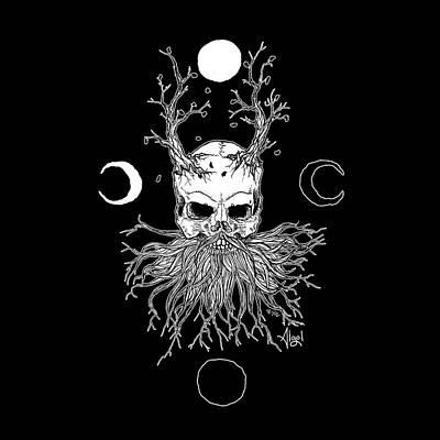 Drawing - Pagan Moon by Bard Algol