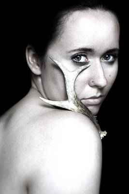 Deer Antler Photograph - Pagan Spirit by Art of Invi