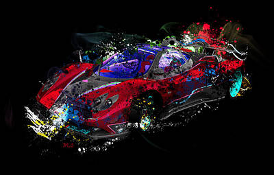 Abstract Digital Digital Art - Pagani by Mark Ashkenazi