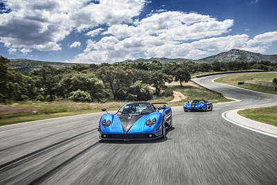 Photograph - Pagani Zonda Hh And Koenigsegg Agera Hh by George Williams