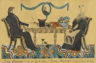 Drawing - Page Batchelder And Betty Batchelder by Joseph H Davis