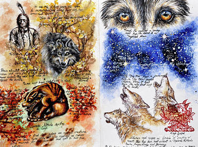 Painting - Page Of Wolves by Safa Qureshi