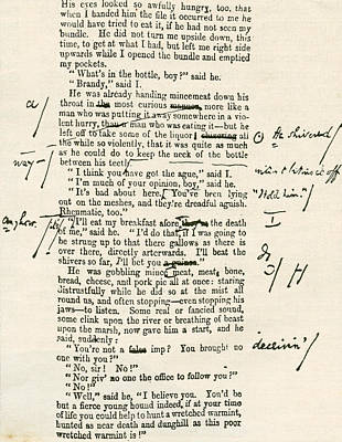 Great Expectations Drawing - Page Proof From Great Expectations by Vintage Design Pics