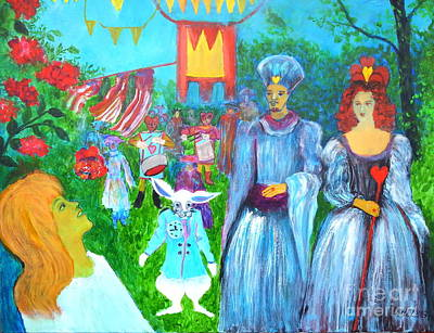 Alice In Wonderland Painting - Pageant - Alice In Wonderland by Dagmar Helbig