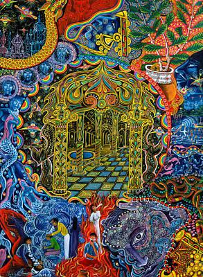 Pagoda Dorada Print by Pablo Amaringo