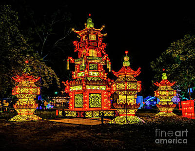 Photograph - Pagoda Lanterns by Nick Zelinsky