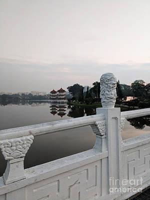 Photograph - Pagoda Reflection In Chinese Garden Singapore by Nicholas Braman