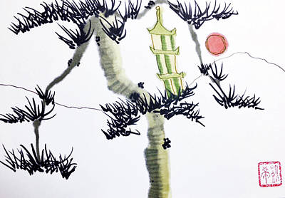 Painting - Pagoda Tree by Casey Shannon
