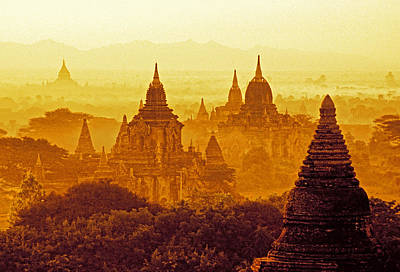 Pagodas Art Print by Dennis Cox WorldViews