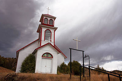 Church Photograph - Pagosa Junction Church by Jerry McElroy