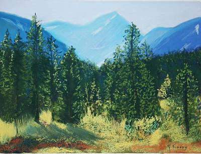Pastel - Pagosa Peak by Michele Turney