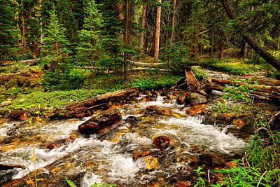 Photograph - Pahsimeroi Cascades by Greg Norrell