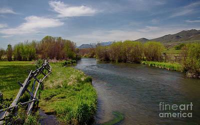 Pahsimeroi River Art Print by Idaho Scenic Images Linda Lantzy