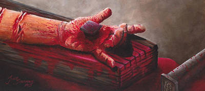 John 3.16 Painting - Paid In Full by Julie Stromme