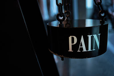 Frailty Photograph - Pain by Jean Gill