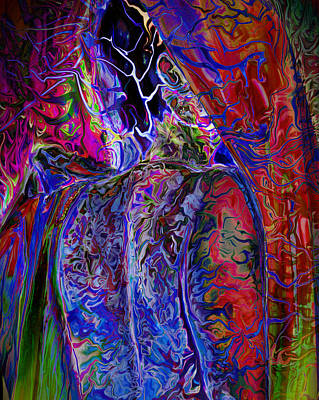 Digitally Manipulated Digital Art - Pain Slow Death Six by Karen Musick