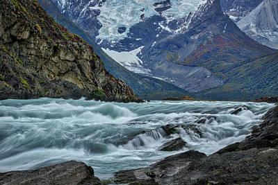 Photograph - Paine River Rapids - Patagonia by Stuart Litoff