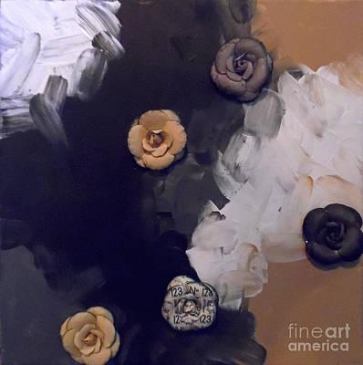 Fabric Mixed Media - Paint And Petals by Jilian Cramb - AMothersFineArt