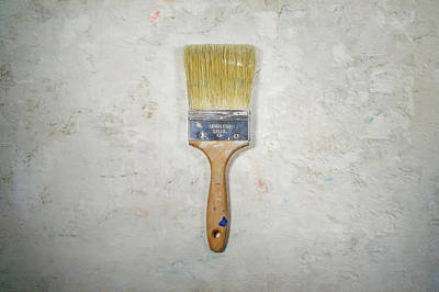 Vintage Barbershop Signs - Paint Brush by Scott Norris