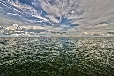 Photograph - Paint Brush Sky - Ft Myers Beach by Christopher L Thomley