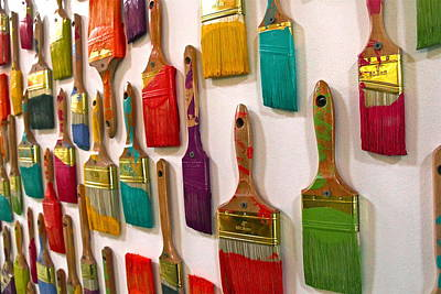 Photograph - Paint Brushes by Denise Mazzocco