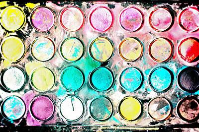 Kindergarten Photograph - Paint Colors by Tom Gowanlock