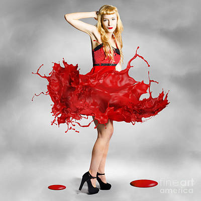 Paint Dress Pin-up Art Print by Jorgo Photography - Wall Art Gallery
