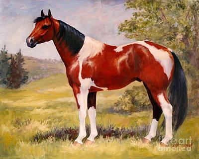 Paint Horse Gelding Portrait Oil Painting - Gizmo Art Print