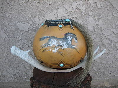 Pyrography Pyrography - Paint Horses #go25 by Barbara Prestridge