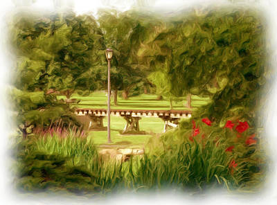 Paint In The Park Art Print by Jim  Darnall