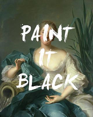 Digital Art - Paint It Black by Georgia Fowler
